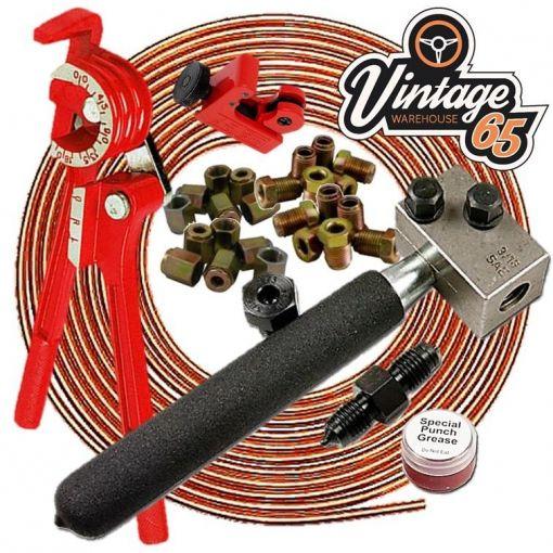 Vauxhall Astra Cavalier Corsa Vectra Nova 3/16 Copper Brake Pipe Line Repair Kit