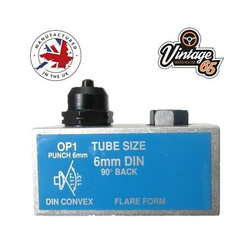 6mm DIN OP1 Brake Pipe Flaring Bench Flare Tool Punch Single Male Bubble