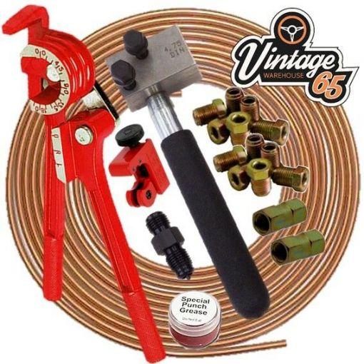 AUDI V.A.G DIN 4.76mm Professional Copper Brake Pipe line Flaring Repair Kit