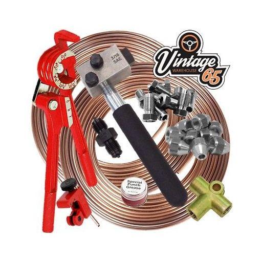 "Austin Healey SAE 3/8"" UNF 3/16 Copper Nickle Brake Pipe Flaring Restoration Kit"