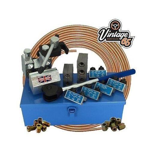 """Brake Pipe Flaring Tool 3/16"""" 1/4"""" 5/16"""" 3/8"""" SAE 4.75mm DIN Professional"""