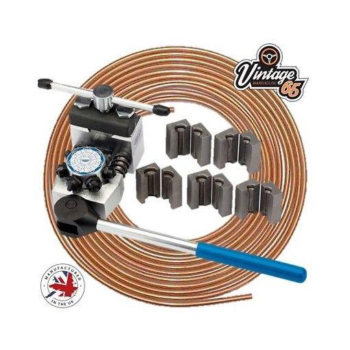 """Tractor Truck Lorry Van Garage Turret Brake Pipe Flaring Tool Kit 3/16"""" DIN SAE"""