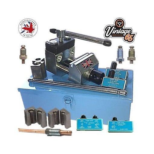 Citroen & European Brake Pipe Flaring Tool Kit SAE DIN 3.5 4.5mm Hydraulic Lines