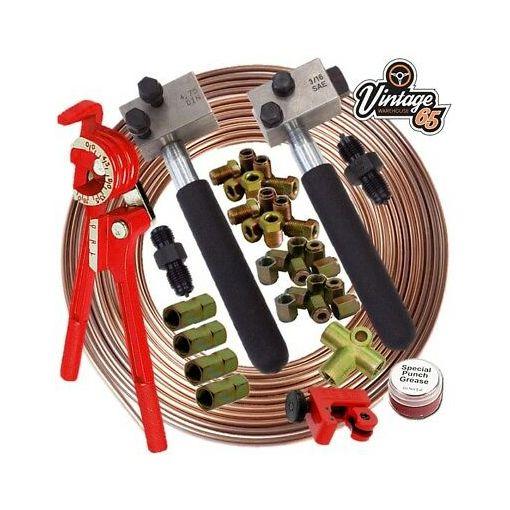 "Land Rover 3/16"" SAE DIN Copper Nickel Kunifer Male Female Brake Pipe Repair Kit"